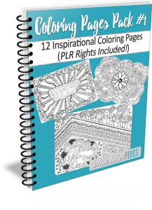 Inspirational Coloring Pages Bundle #1