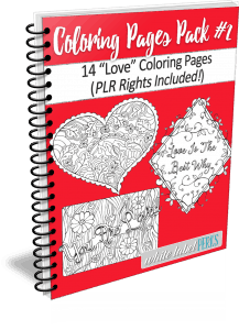Love Coloring Pages Bundle #2