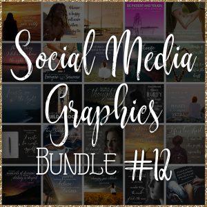 Social Media Quote Graphics: Bundle #12