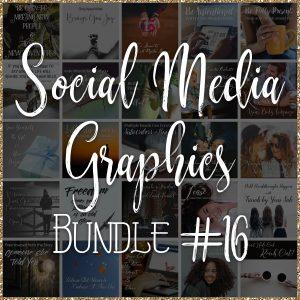 Social Media Quote Graphics: Bundle #16
