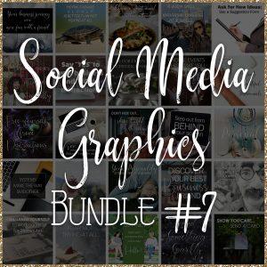 Social Media Quote Graphics: Bundle #7