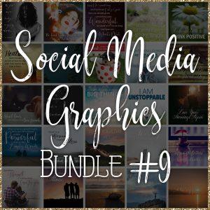 Social Media Quote Graphics: Bundle #9