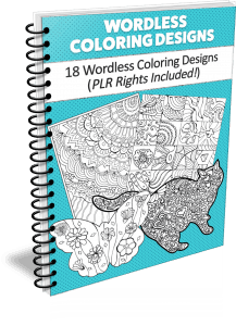 Wordless Coloring Designs